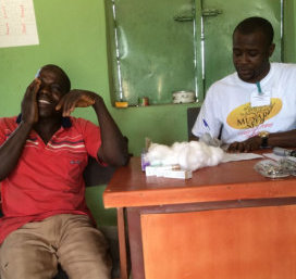 Free eye check and provision of glasses