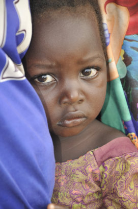 A child in in que for medical care